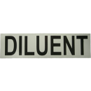 Sticker DILUENT (small 17x5 cm) white/black 17cm x 5cm